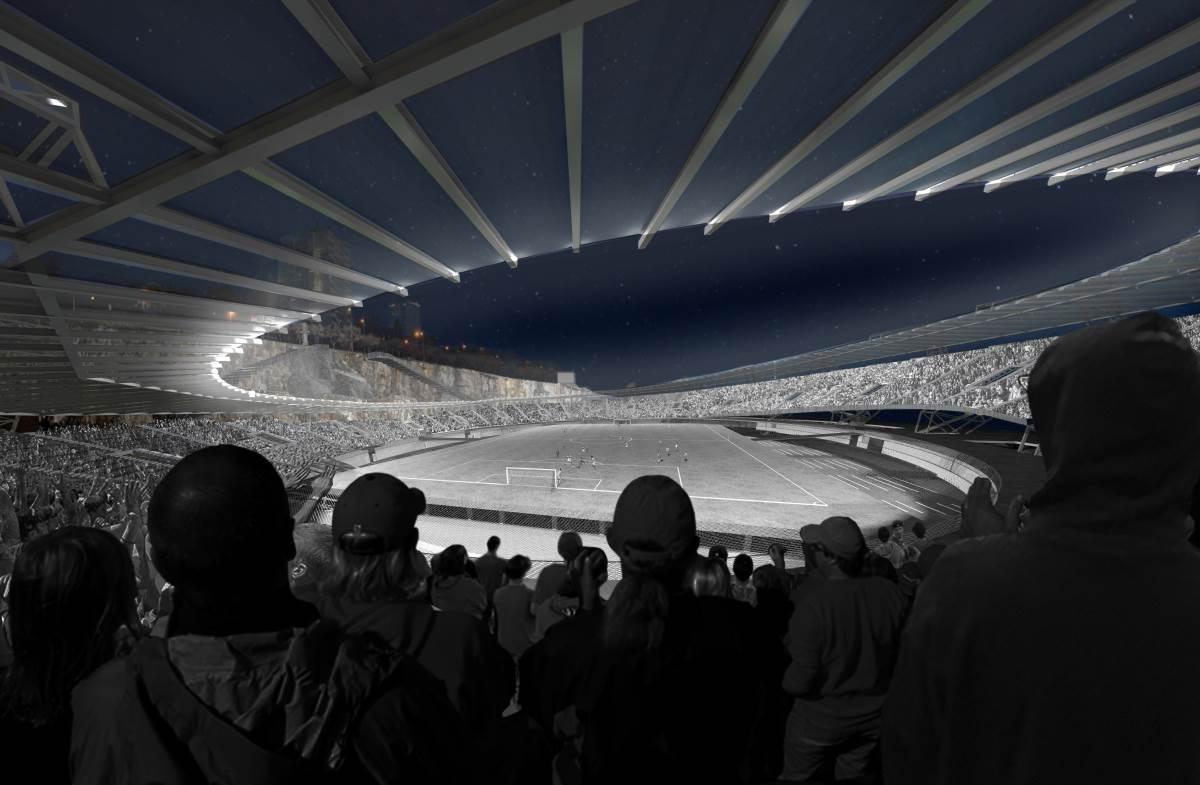 eksterijer stadion arhitektura